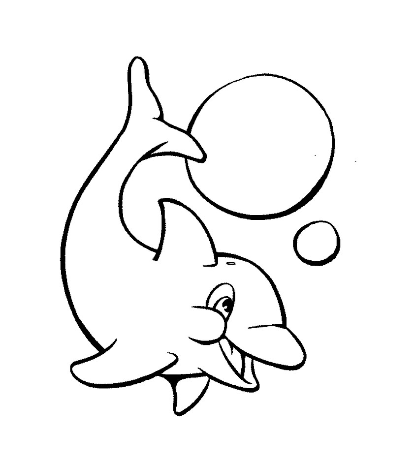 Coloring page very simple dolphin very simple dolphin