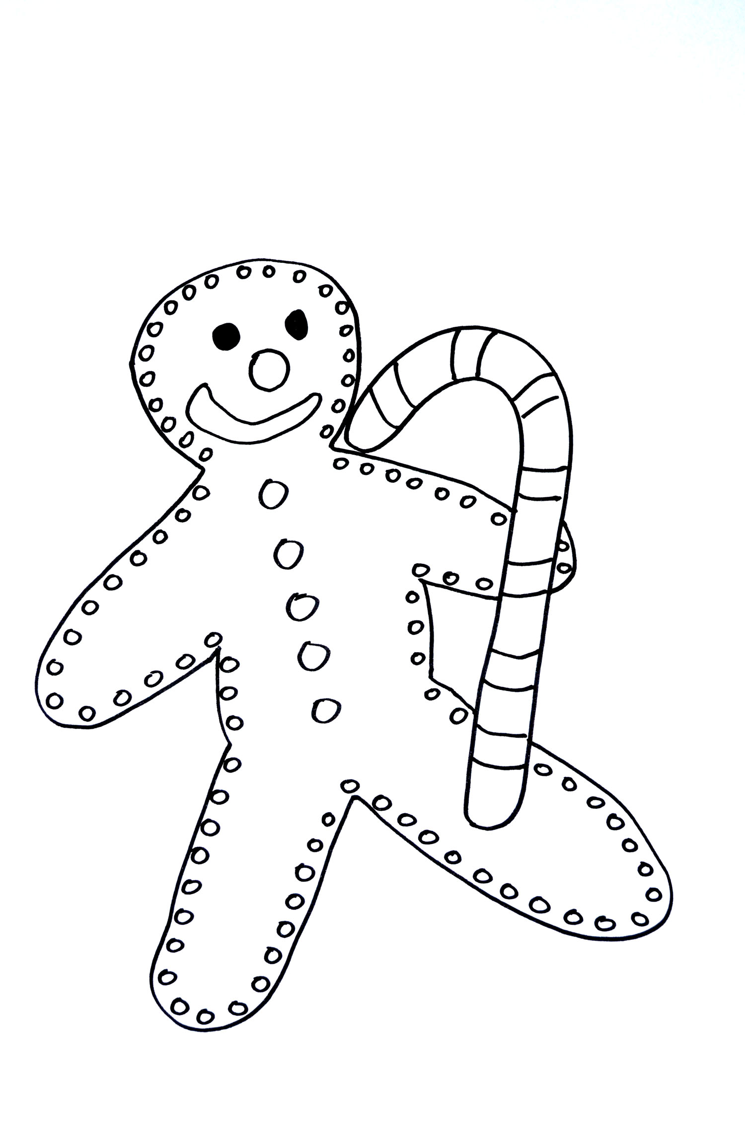 Gingerbread Man Christmas Coloring Pages For Kids To