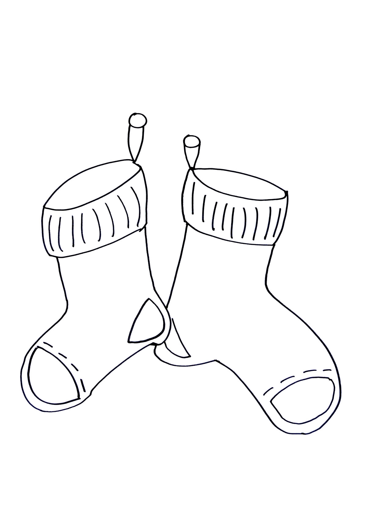 96 Top Coloring Pages Christmas Socks , Free HD Download