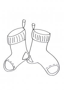 coloring christmas socks