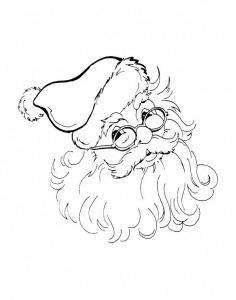 Coloring santa claus head with glasses