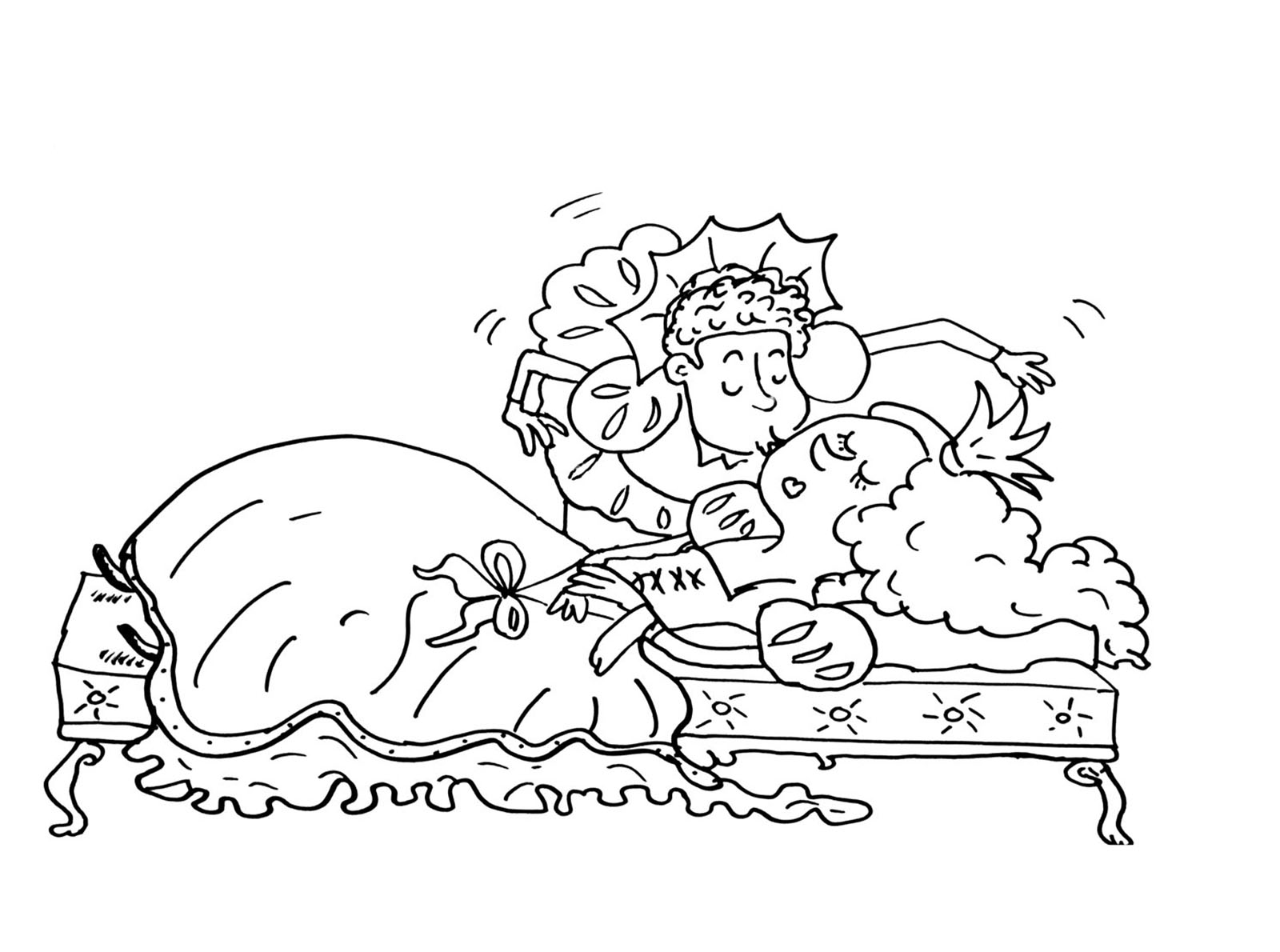 sleeping beauty exclusive coloring page for kids