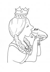 coloring princess frog