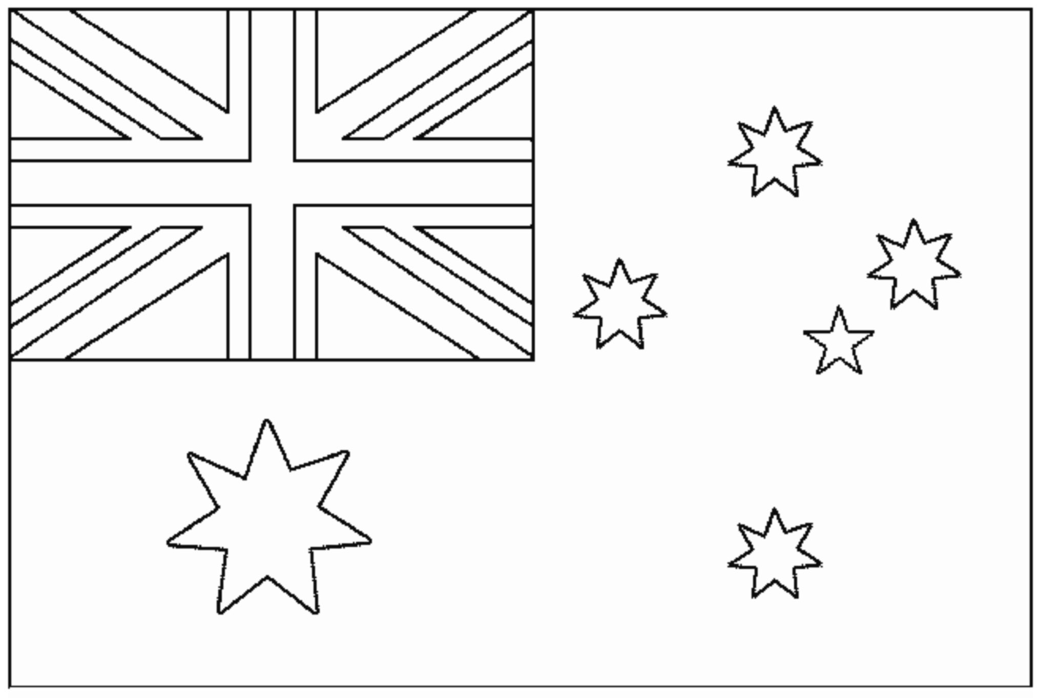 Flag australia - Flags Coloring pages for kids to print & color