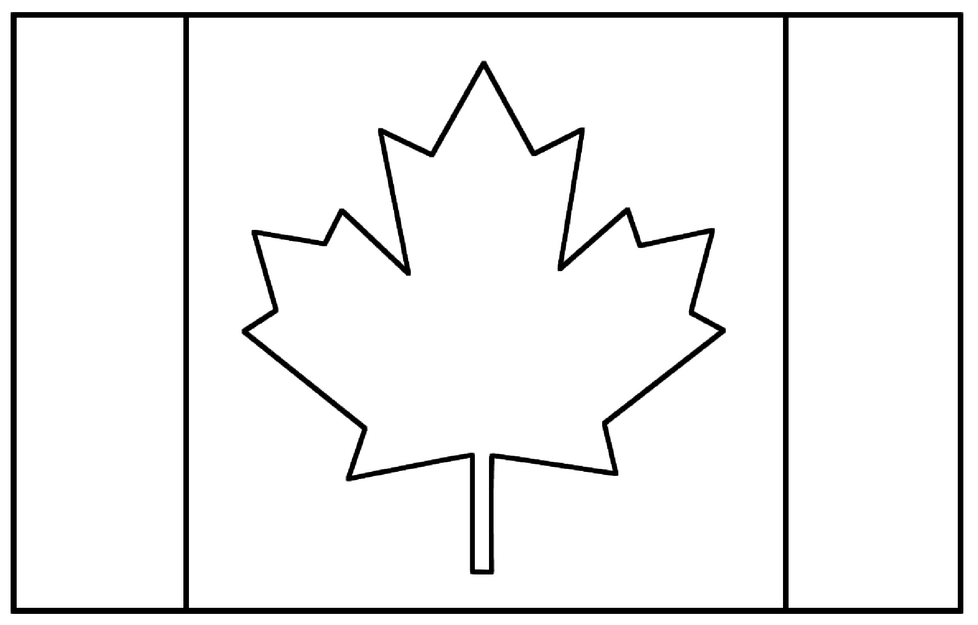 Flag canada - Flags Coloring pages for kids to print & color