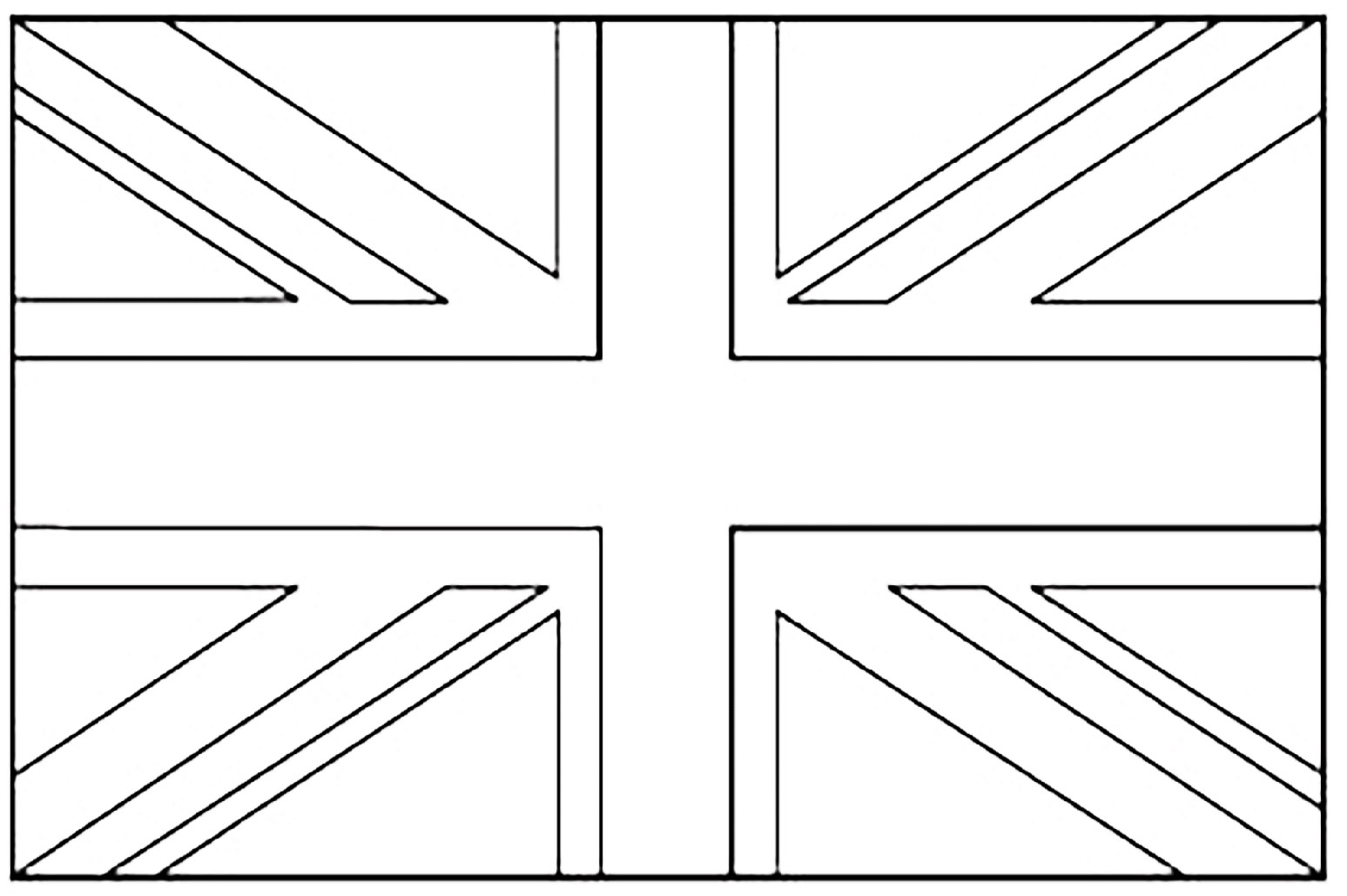 United Kingdom Union Jack Flags Coloring Pages For Kids