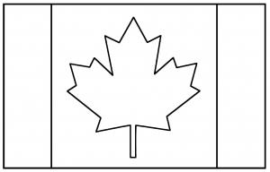 Coloring flag canada