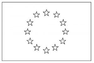 Coloring flag europe