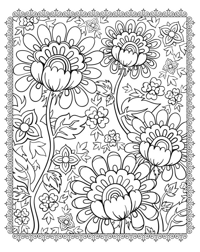 Superb flowers - Flowers Coloring pages for kids to print ...