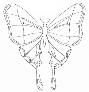 coloring simple butterfly