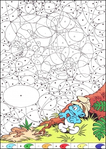magical coloring smurf