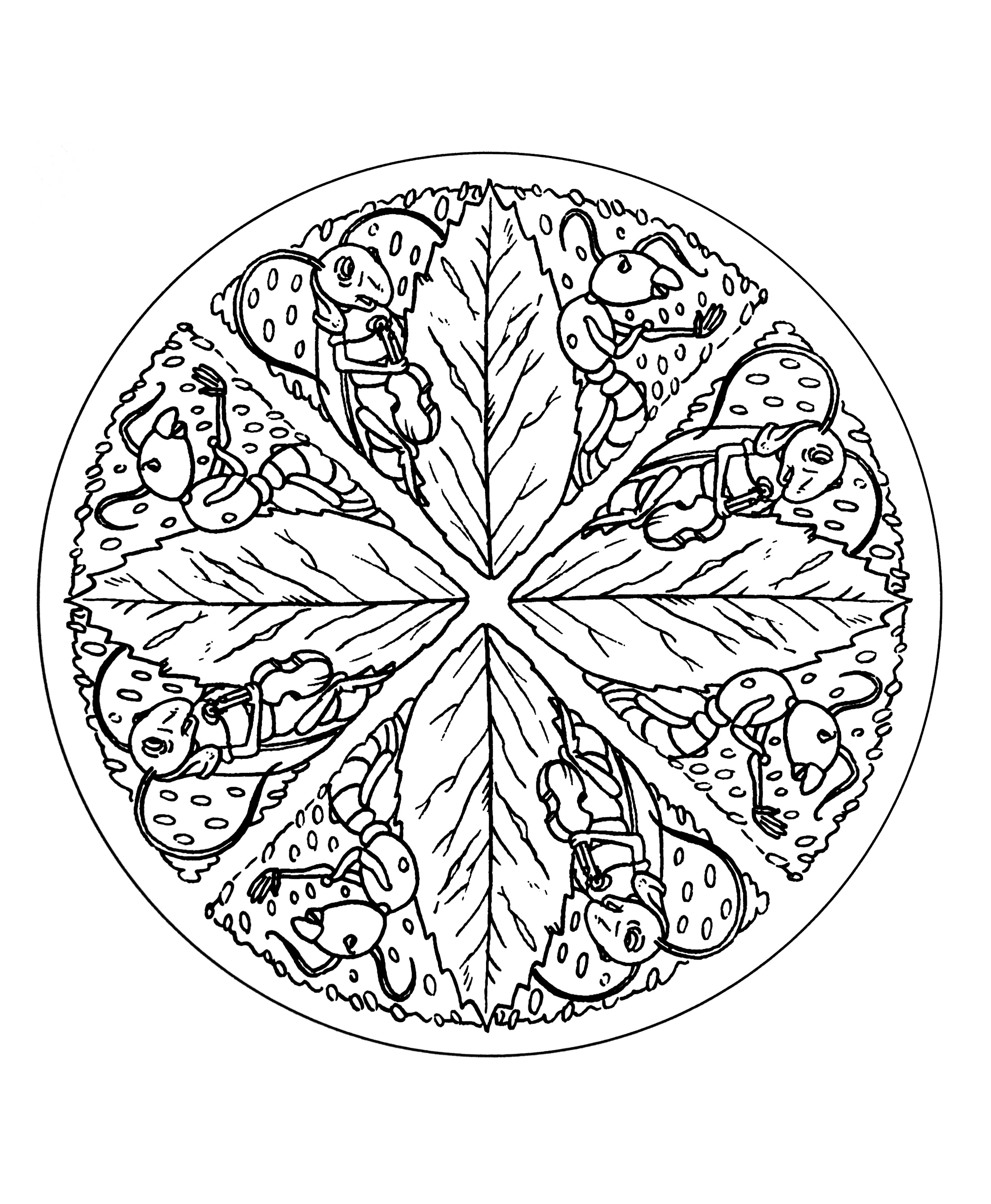 Simple mandala 20 - M&alas Coloring pages for kids to ...