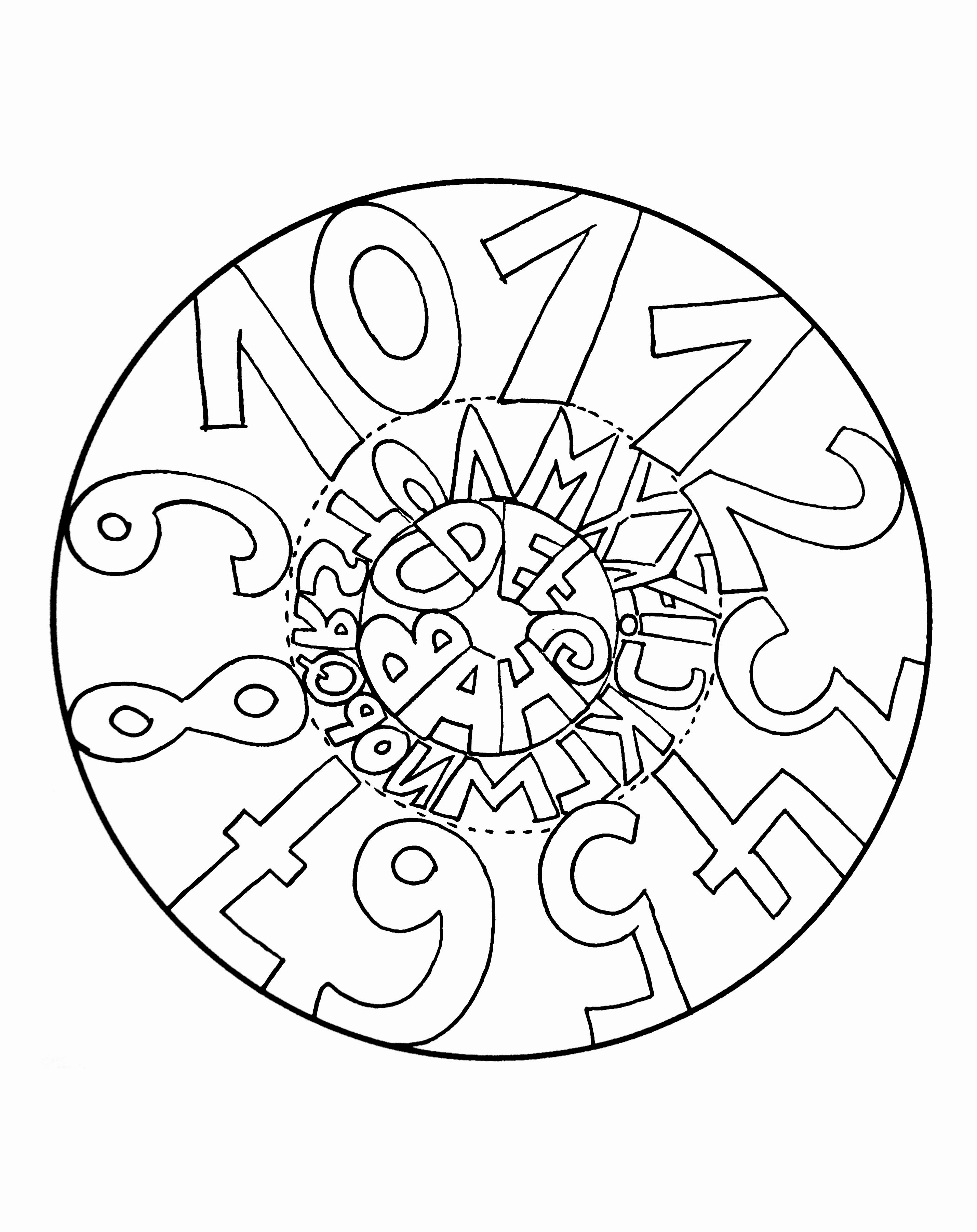 Simple mandala 23 - M&alas Coloring pages for kids to print & color