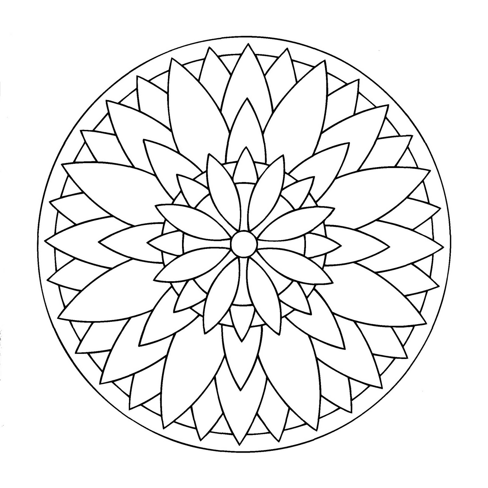 simple mandala 3 from the gallery kids mandalas