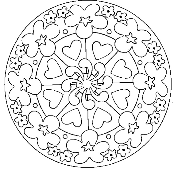 Simple mandala 30 - M&alas Coloring pages for kids to print & color