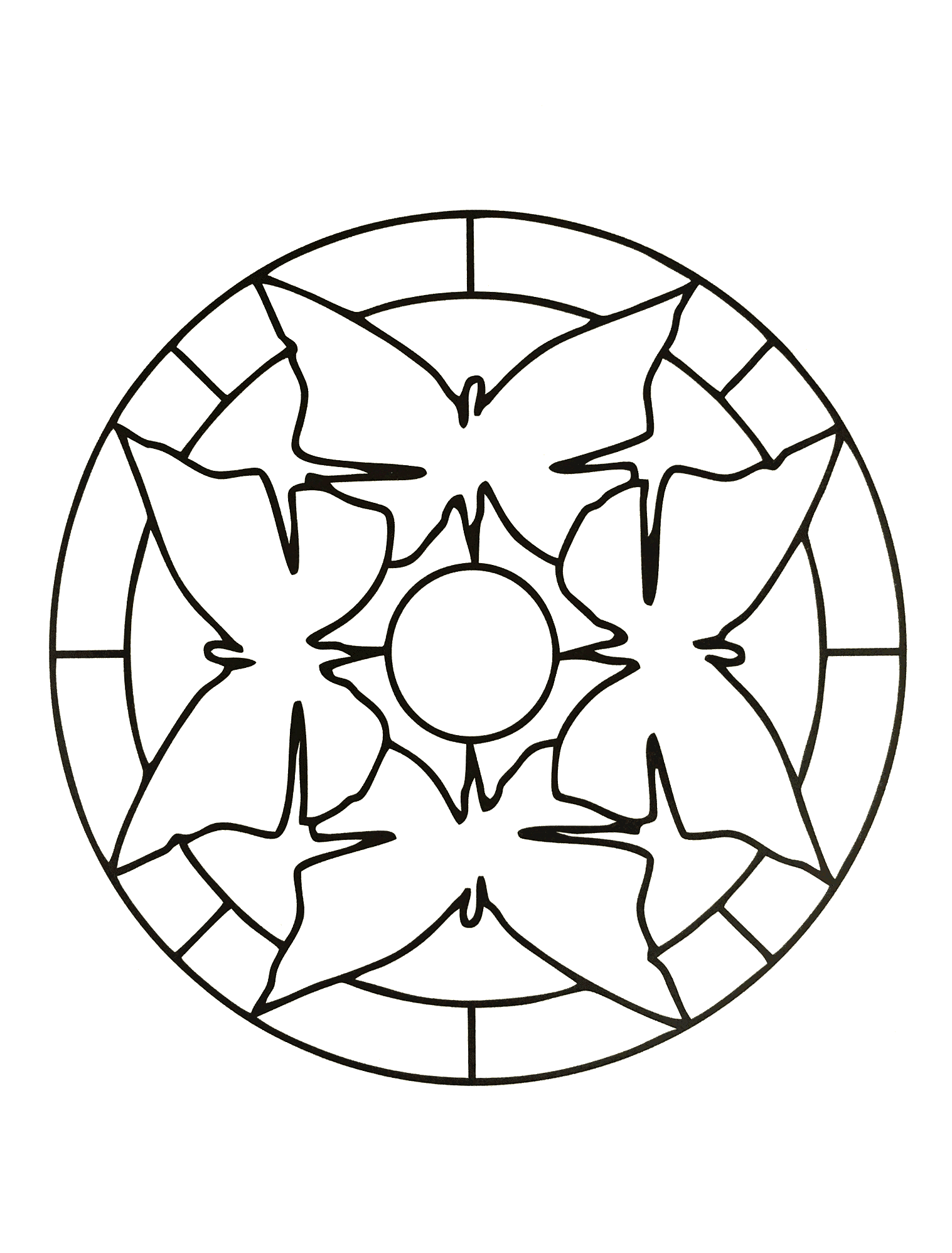 coloring pages for kids simple mandala 35 print - Simple Mandala Coloring Pages