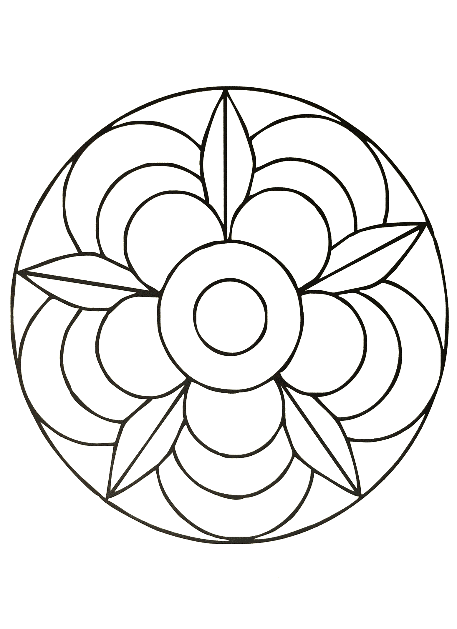 coloring pages for kids simple mandala 40 print - Simple Mandala Coloring Pages