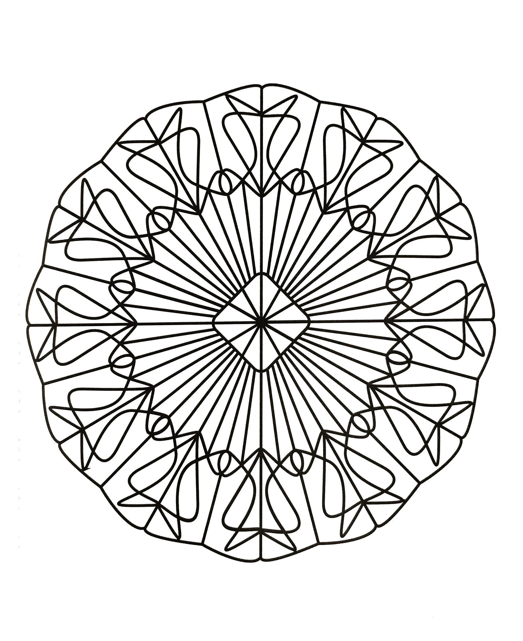 Simple mandala 46 - Mandalas Coloring pages for kids to ...