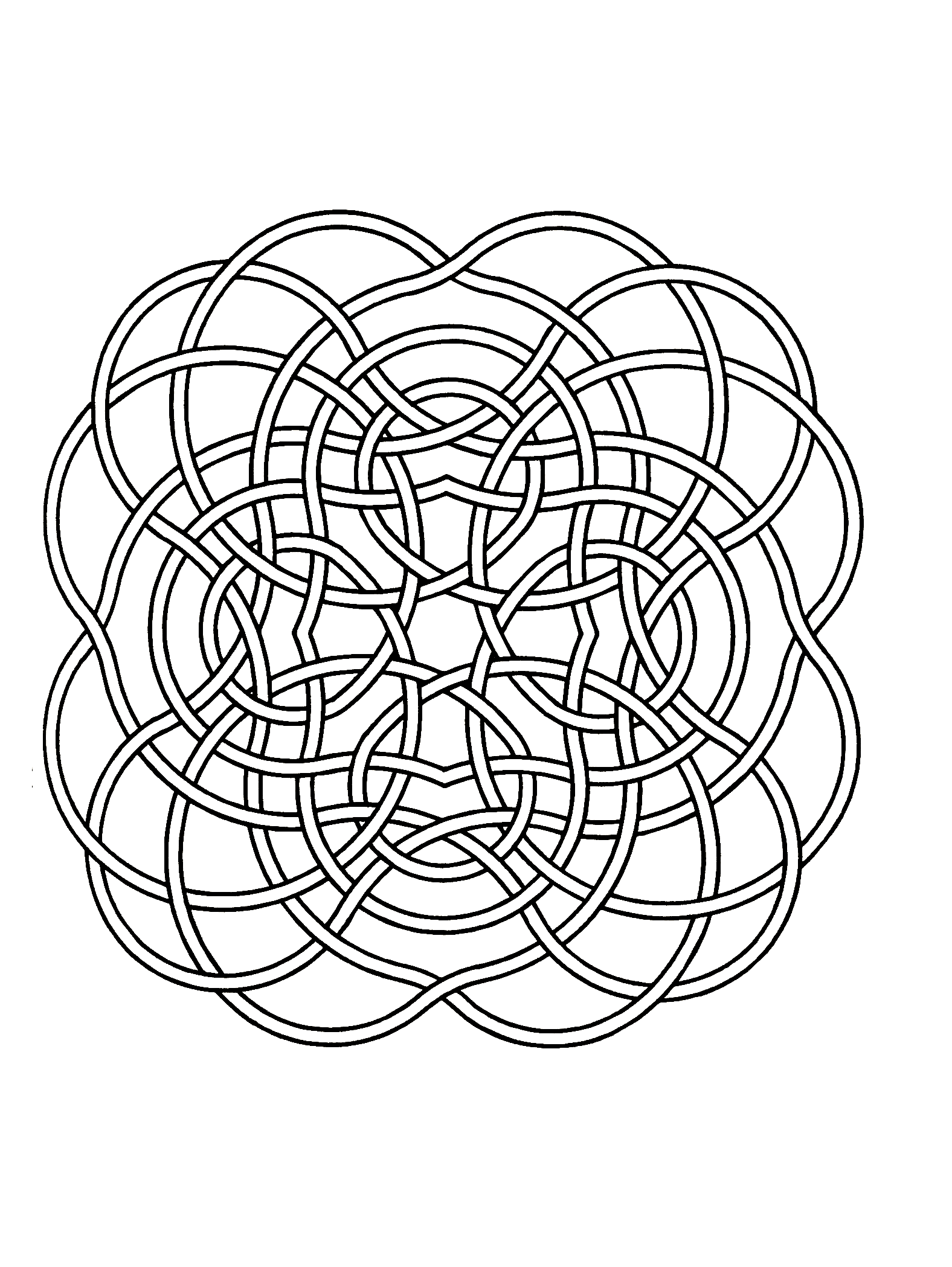 Simple mandala 49 - M&alas Coloring pages for kids to ...