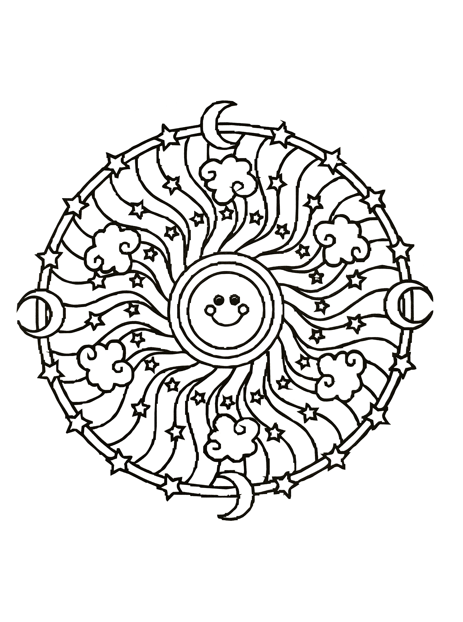 Simple Mandala 54 Mandalas Coloring Pages For Kids To