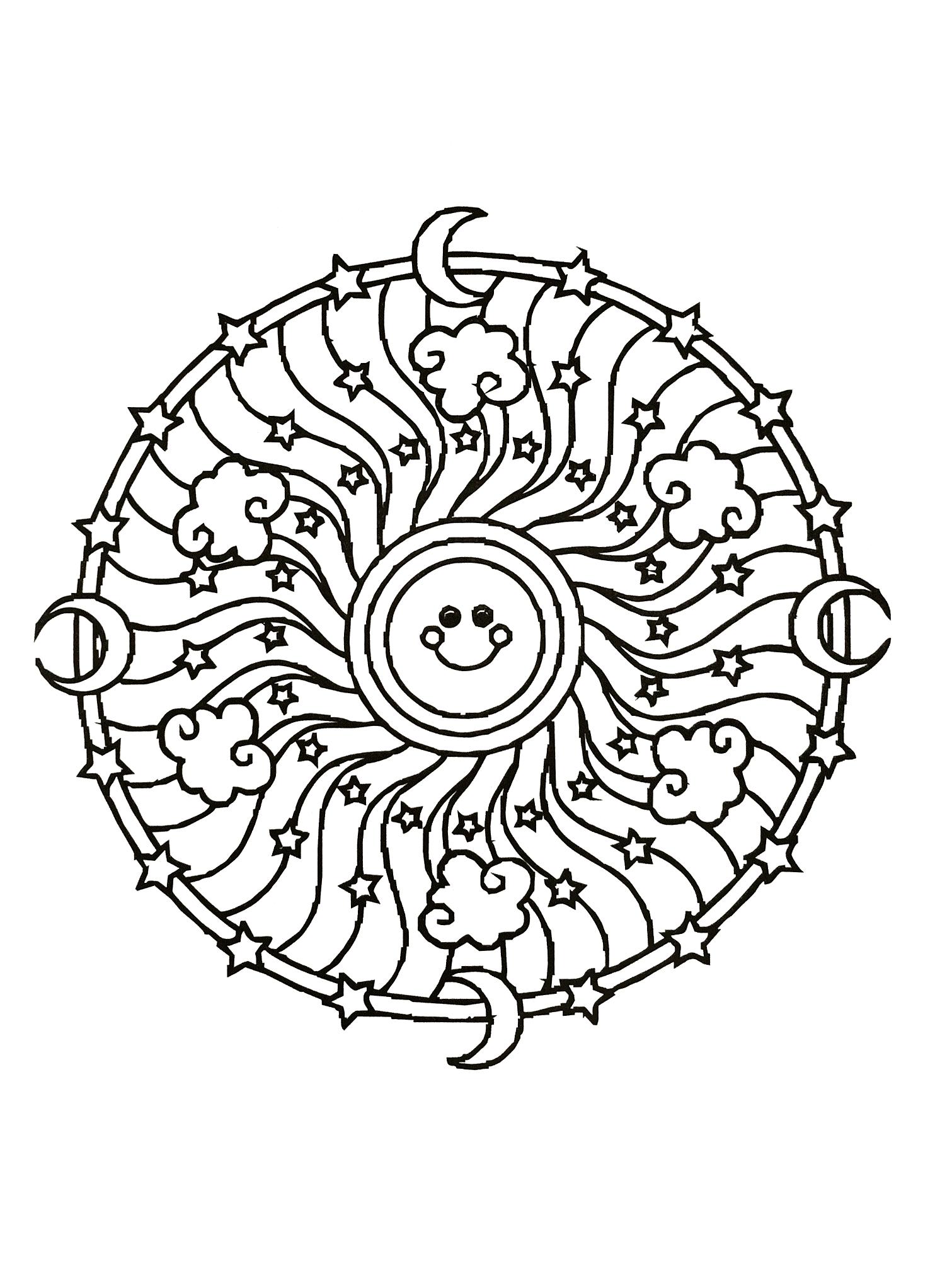 Simple mandala 54