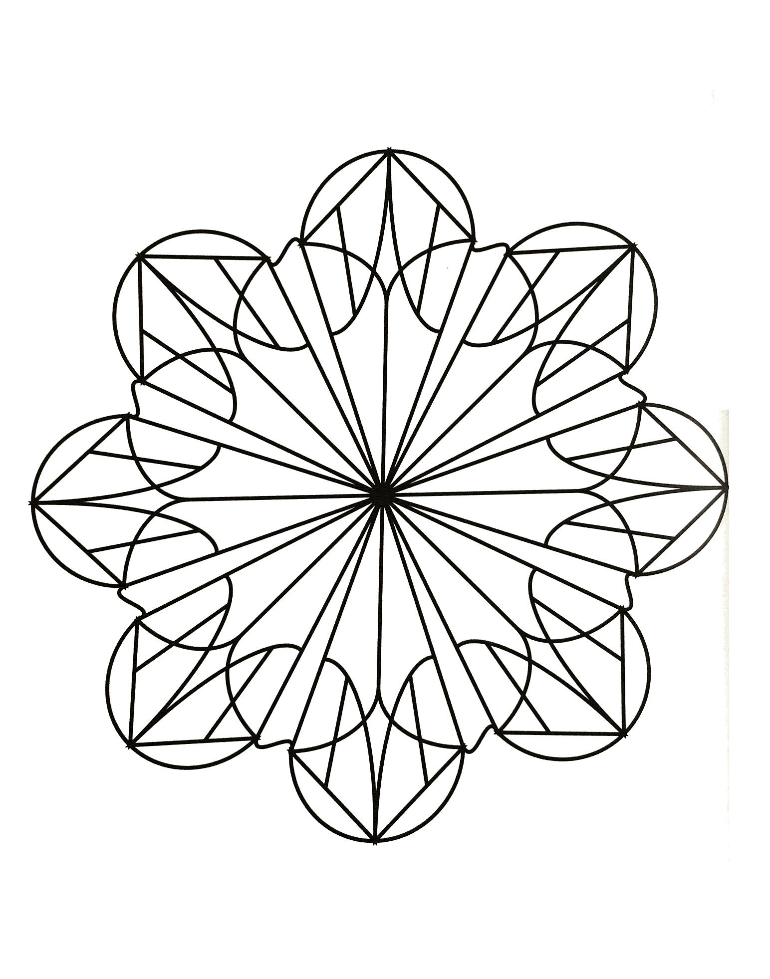 Simple mandala 55 - Mandalas Coloring pages for kids to ...