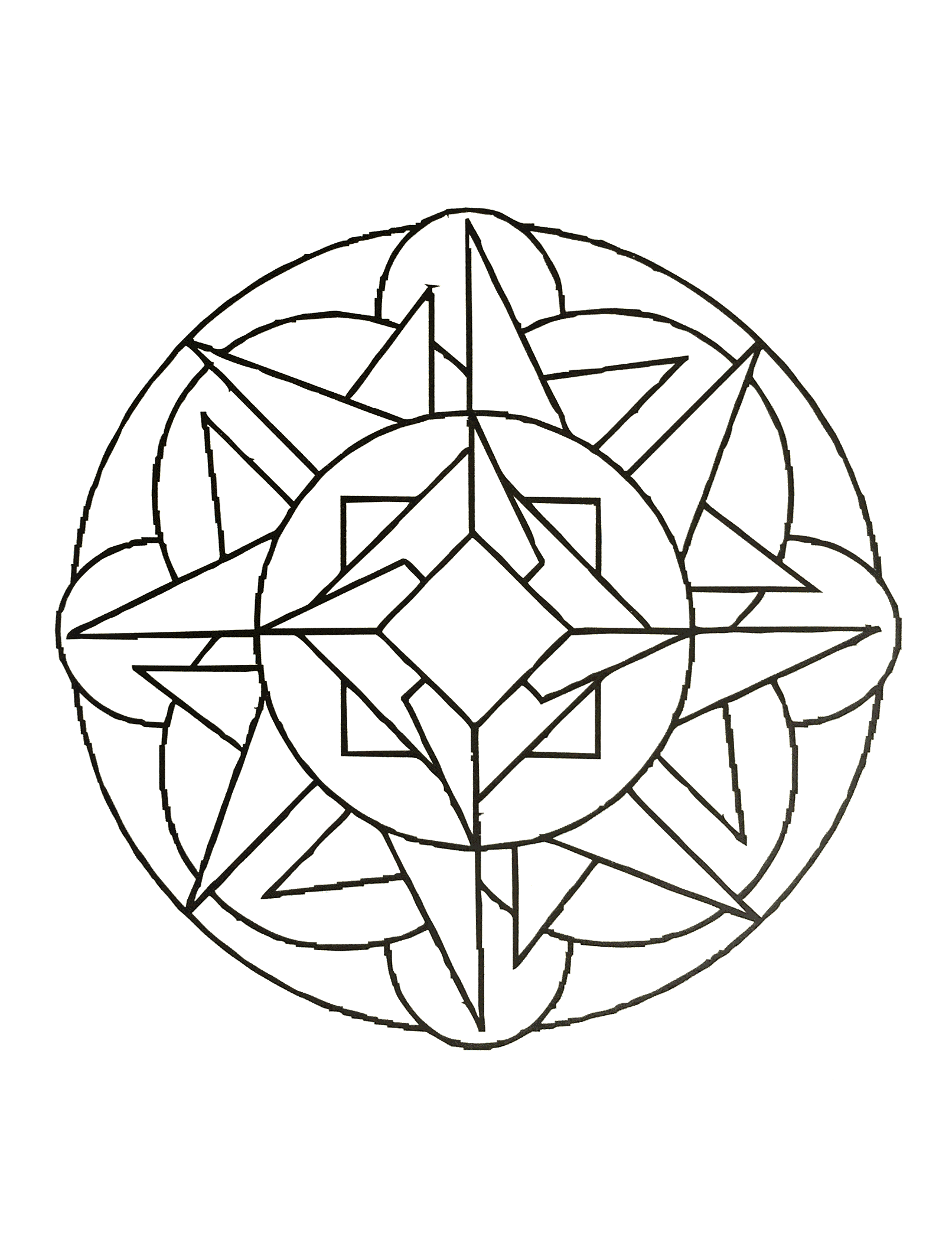Simple mandala 56 - M&alas Coloring pages for kids to print & color