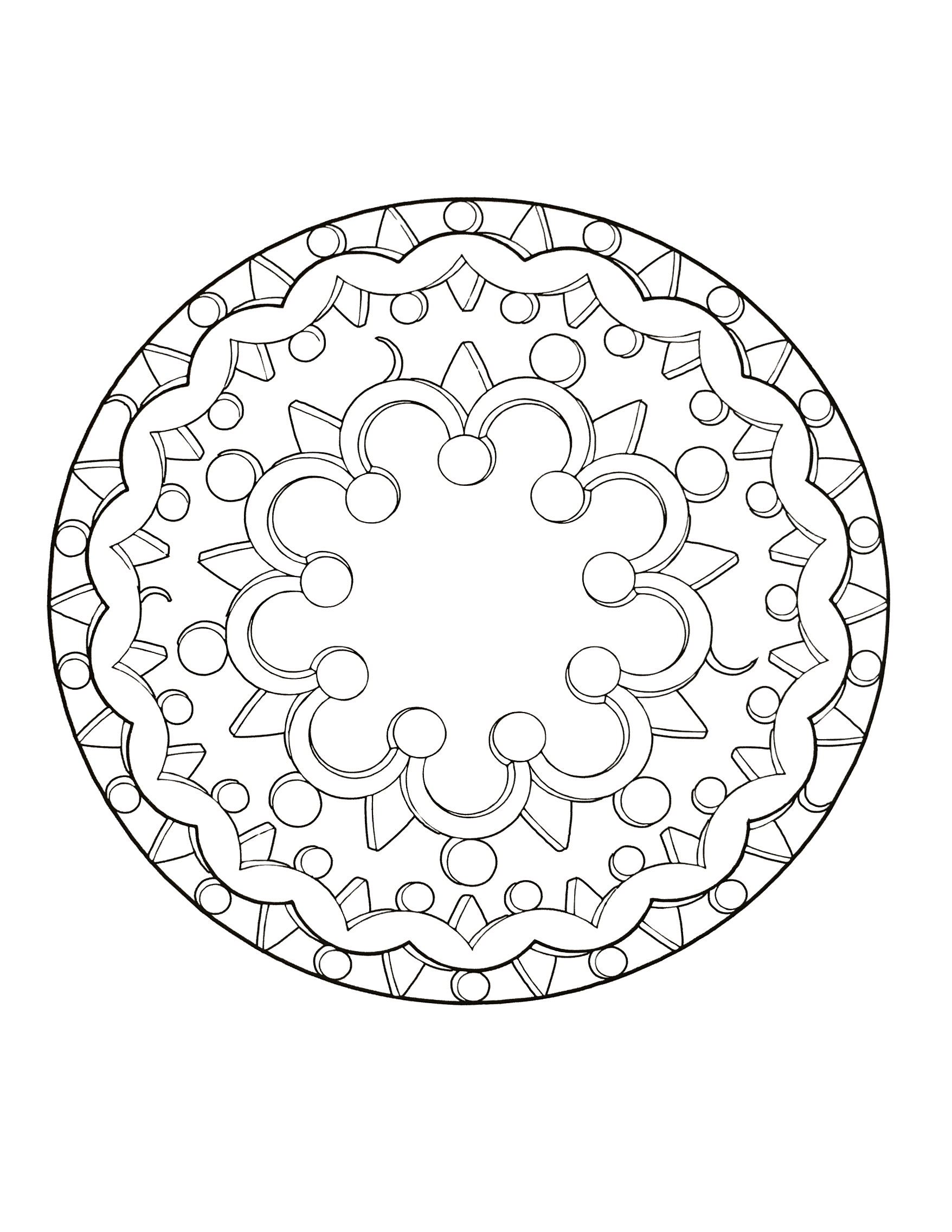 coloring pages for kids simple mandala 62 print - Simple Mandala Coloring Pages