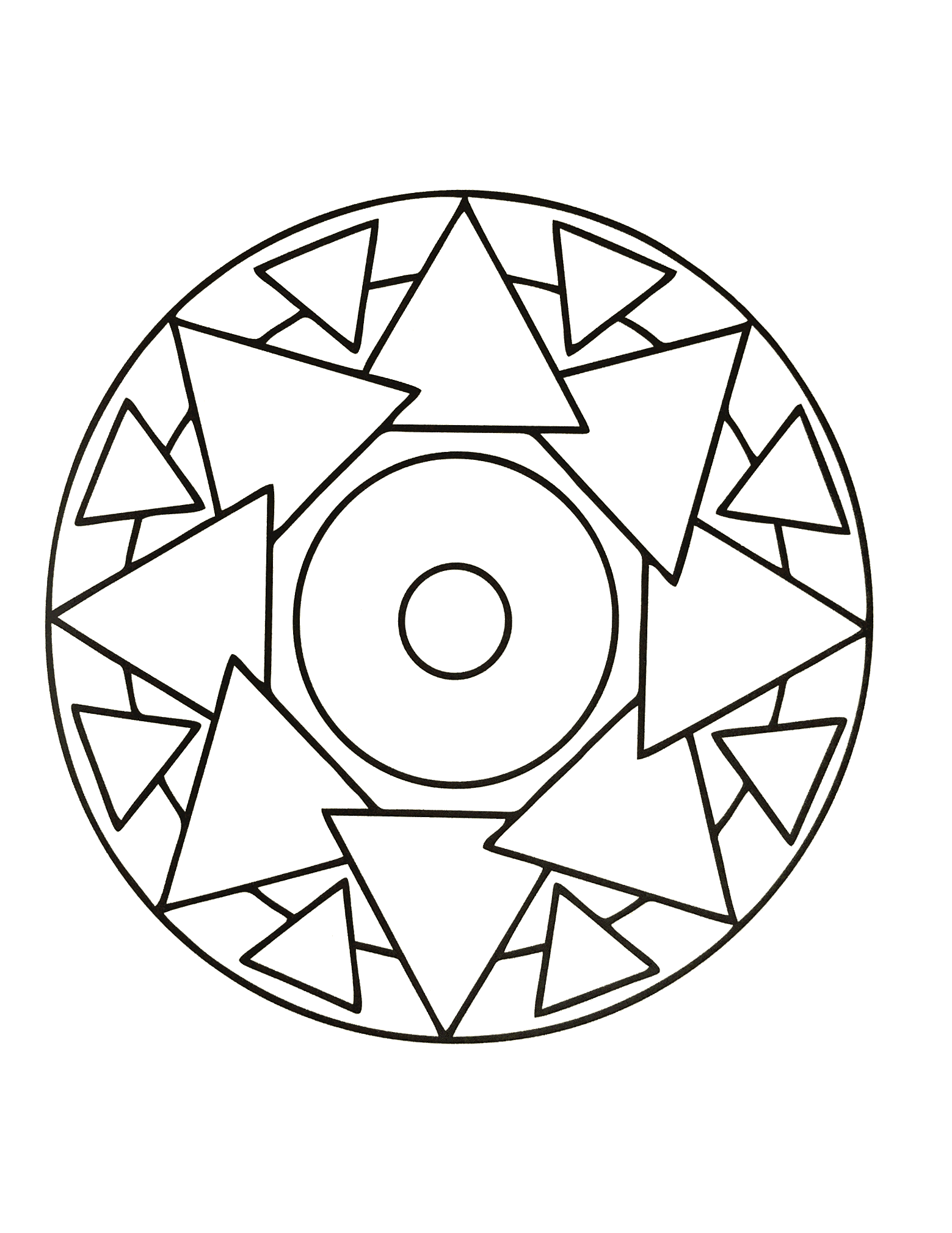 Simple mandala 65 - M&alas Coloring pages for kids to print & color