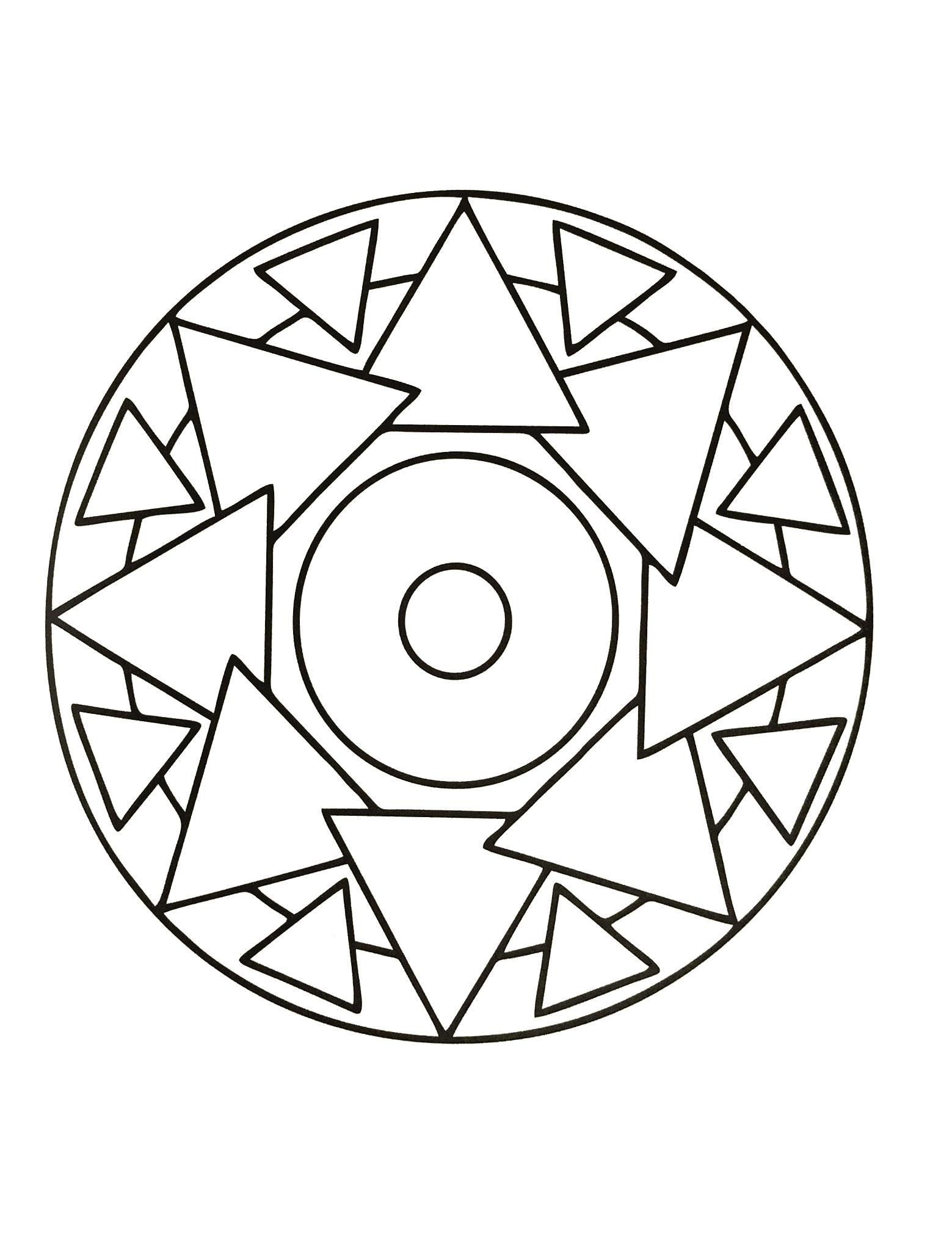 Simple mandala 65 - Mandalas Coloring pages for kids to ...