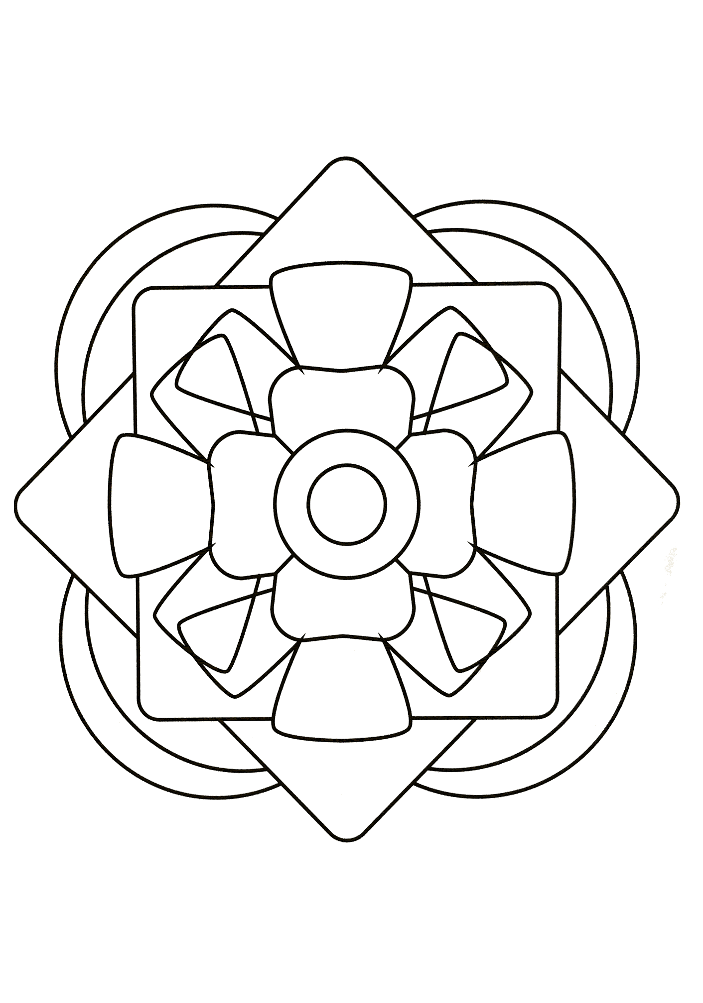 Simple Mandala 66 M Amp Alas Coloring Pages For Kids To