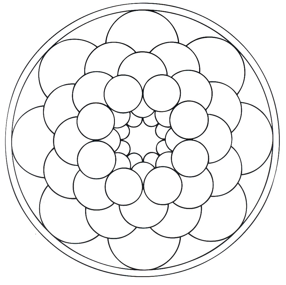 related simple mandalas coloring pages - photo#44