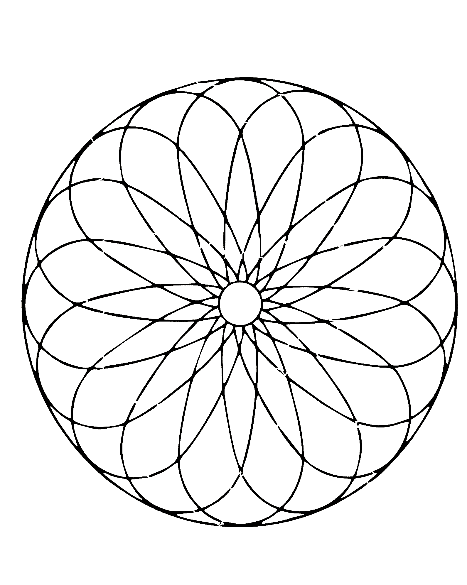 Simple mandala 72 - M&alas Coloring pages for kids to ...