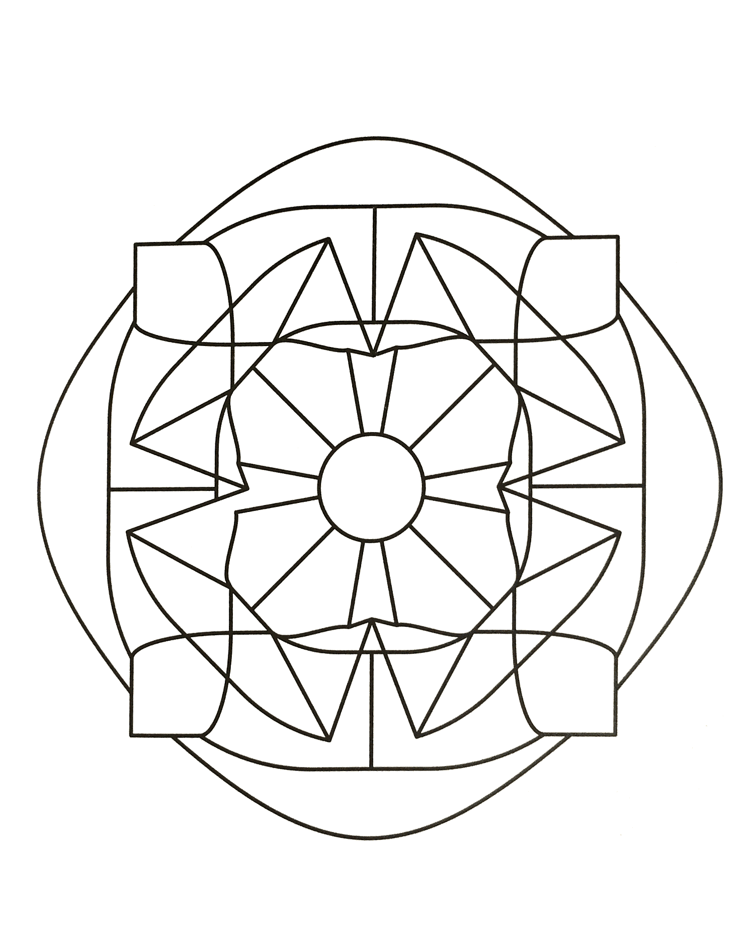 Simple mandala 74 - M&alas Coloring pages for kids to ...