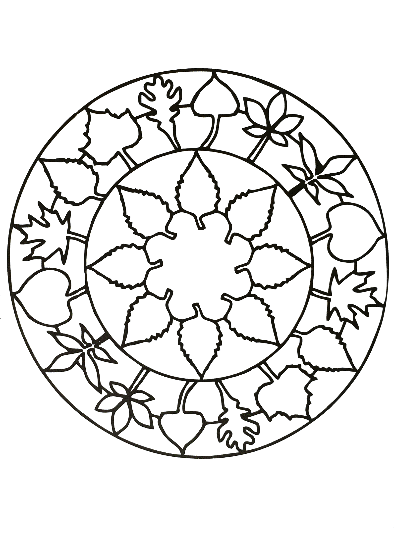 Simple mandala 75 - M&alas Coloring pages for kids to print & color