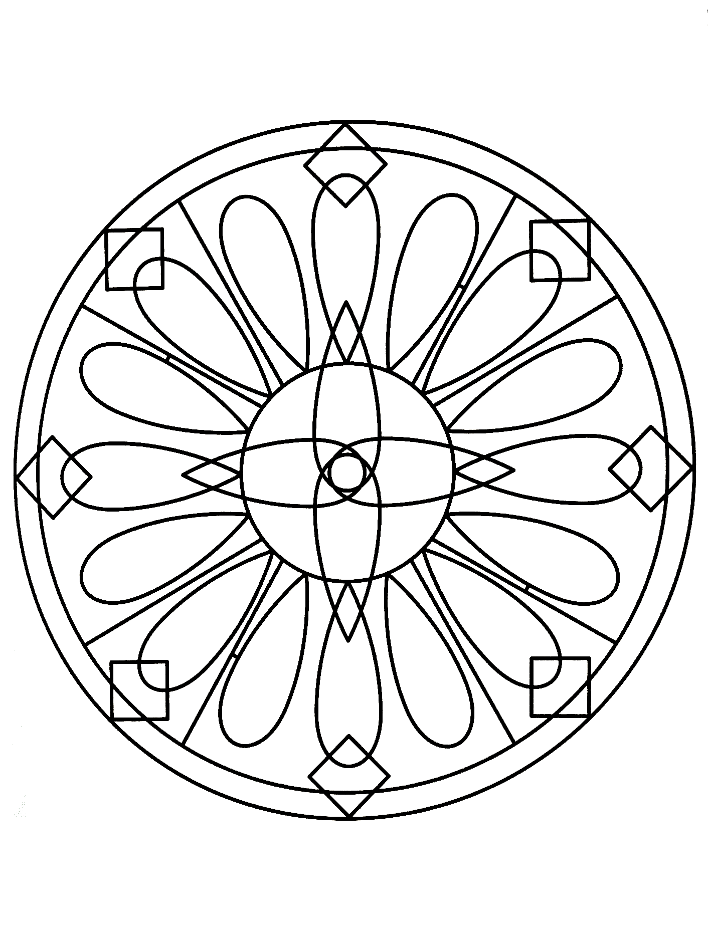 Simple Mandala 77 Mandalas Coloring Pages For Kids To