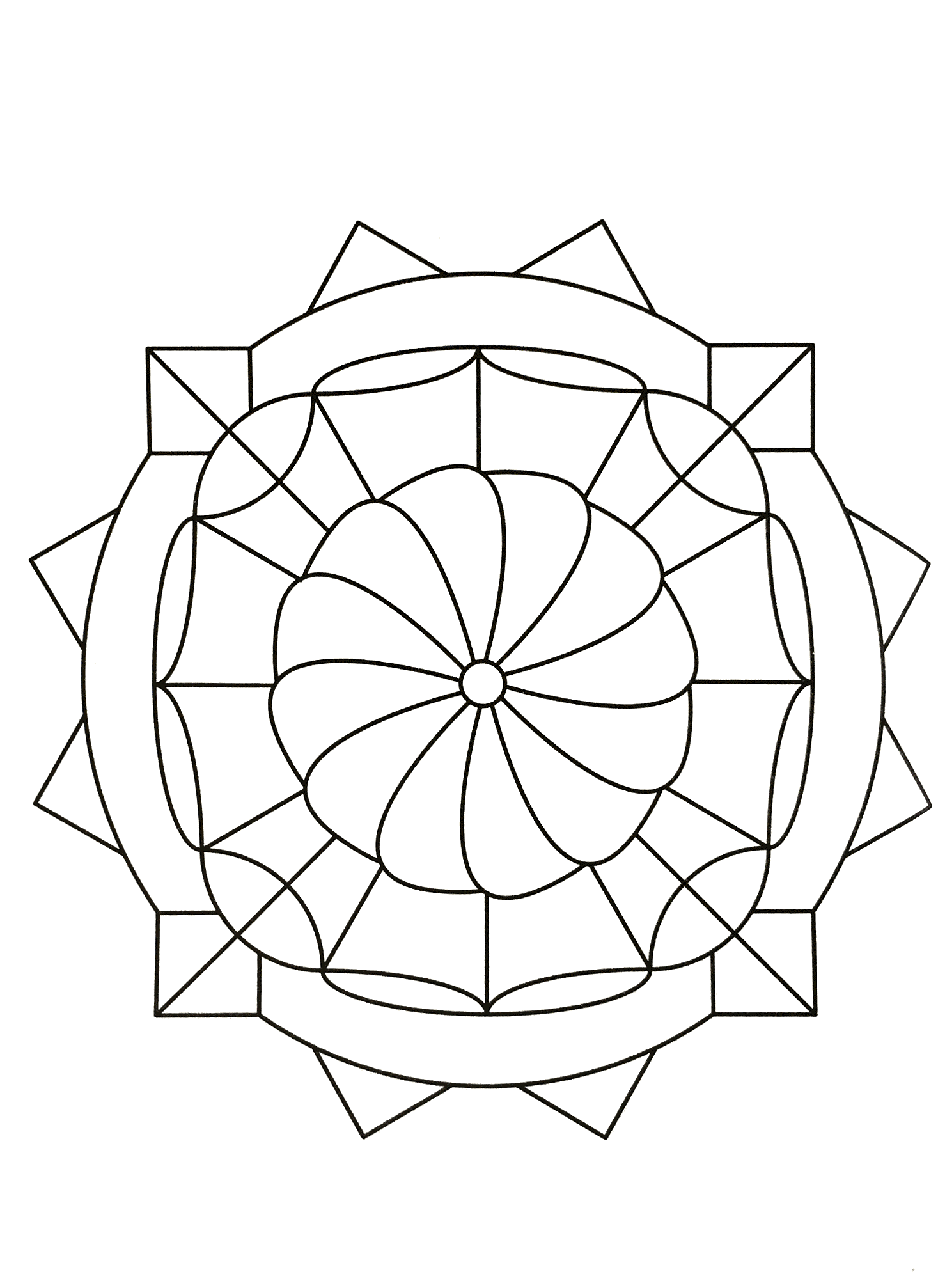 Simple mandala 80 | Mandalas Coloring pages for kids to print & color