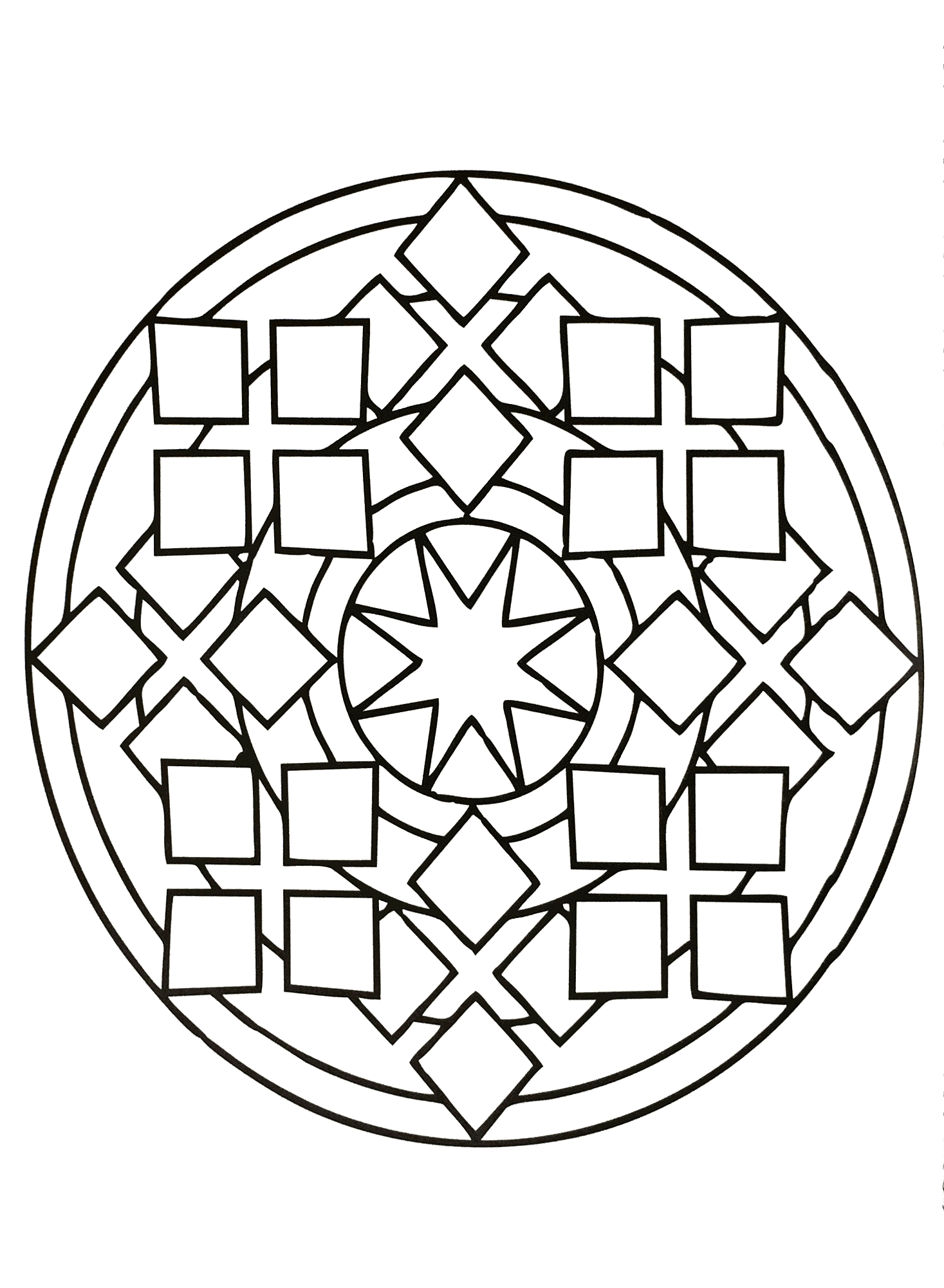 Simple Mandala 81 M Amp Alas Coloring Pages For Kids To