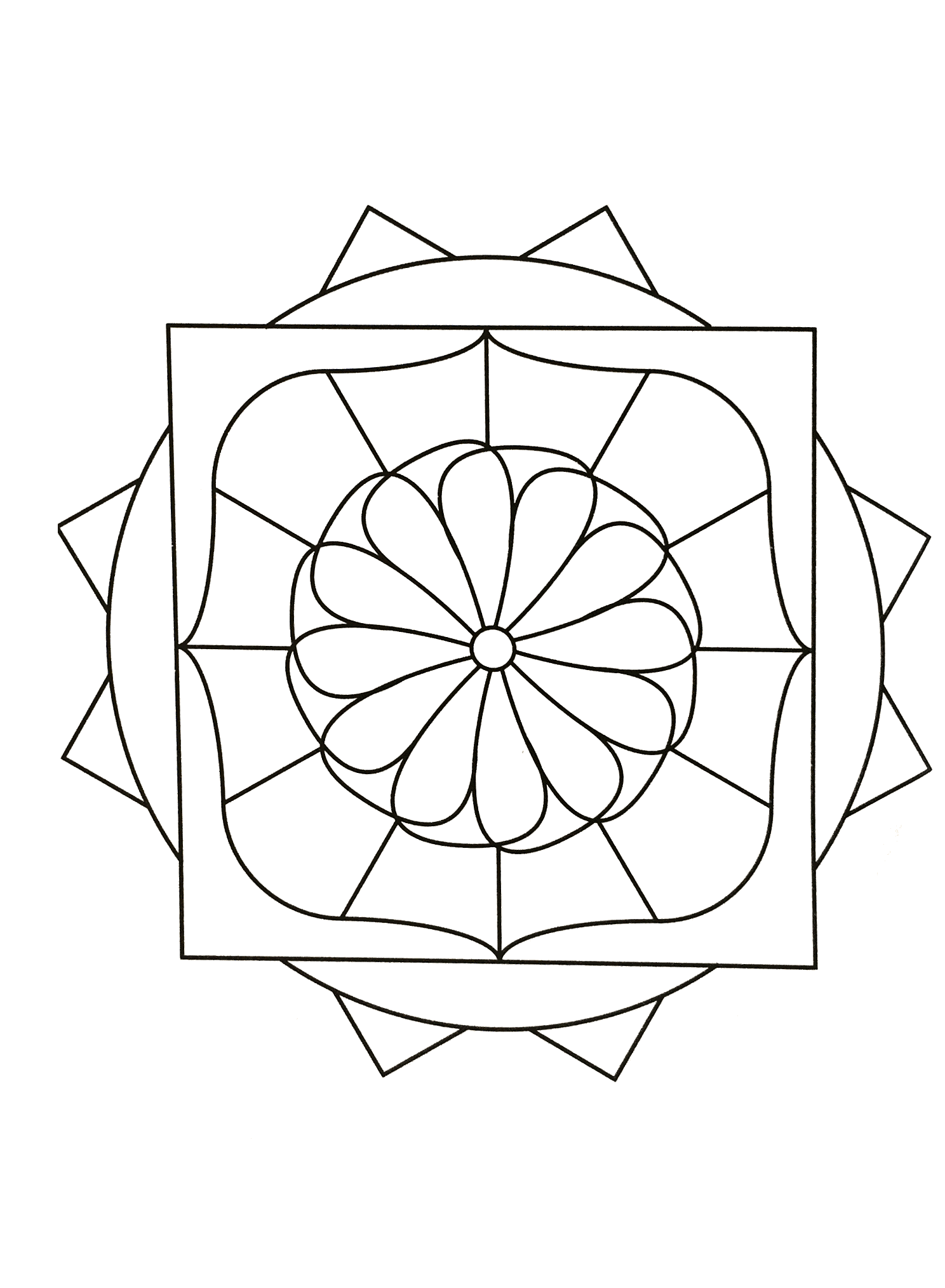 Simple Mandala 82 M Amp Alas Coloring Pages For Kids To