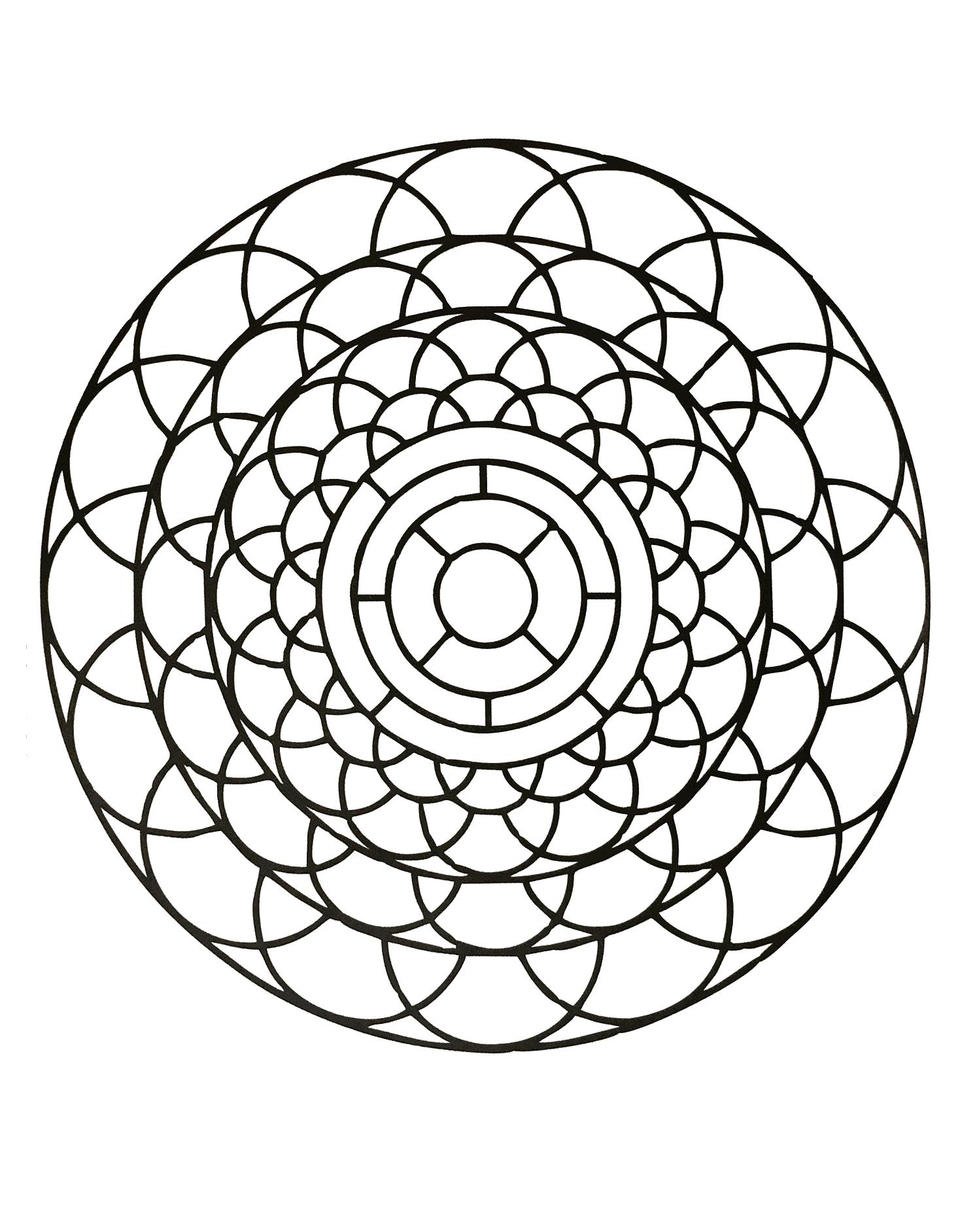 Simple mandala 84 - Mandalas Coloring pages for kids to ...
