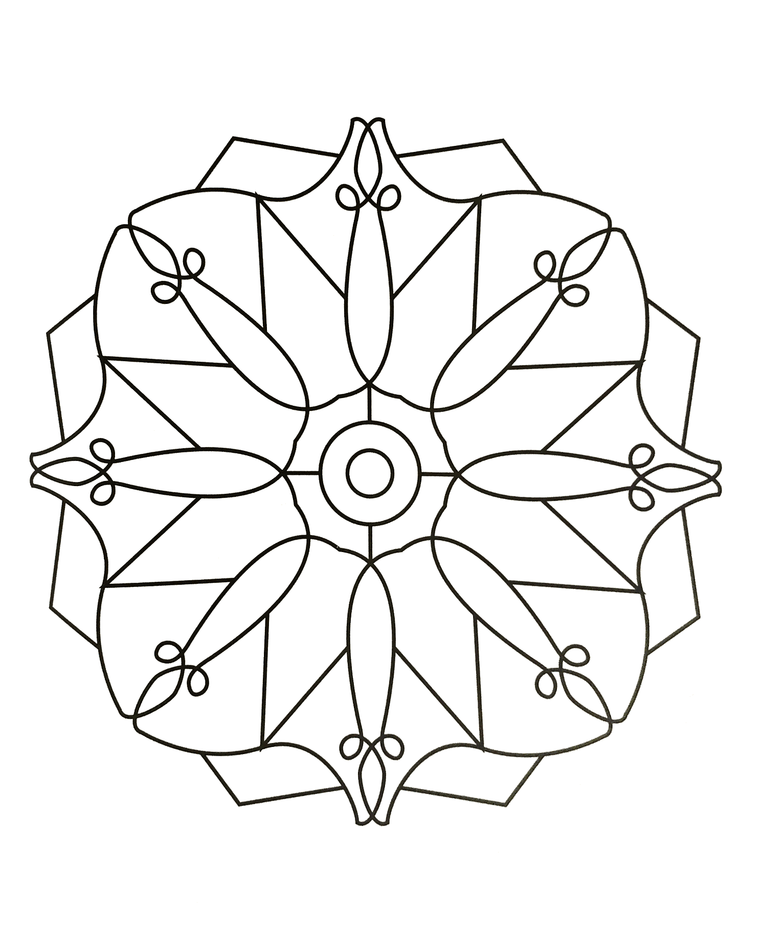 coloring pages for kids simple mandala 85 print - Simple Mandala Coloring Pages