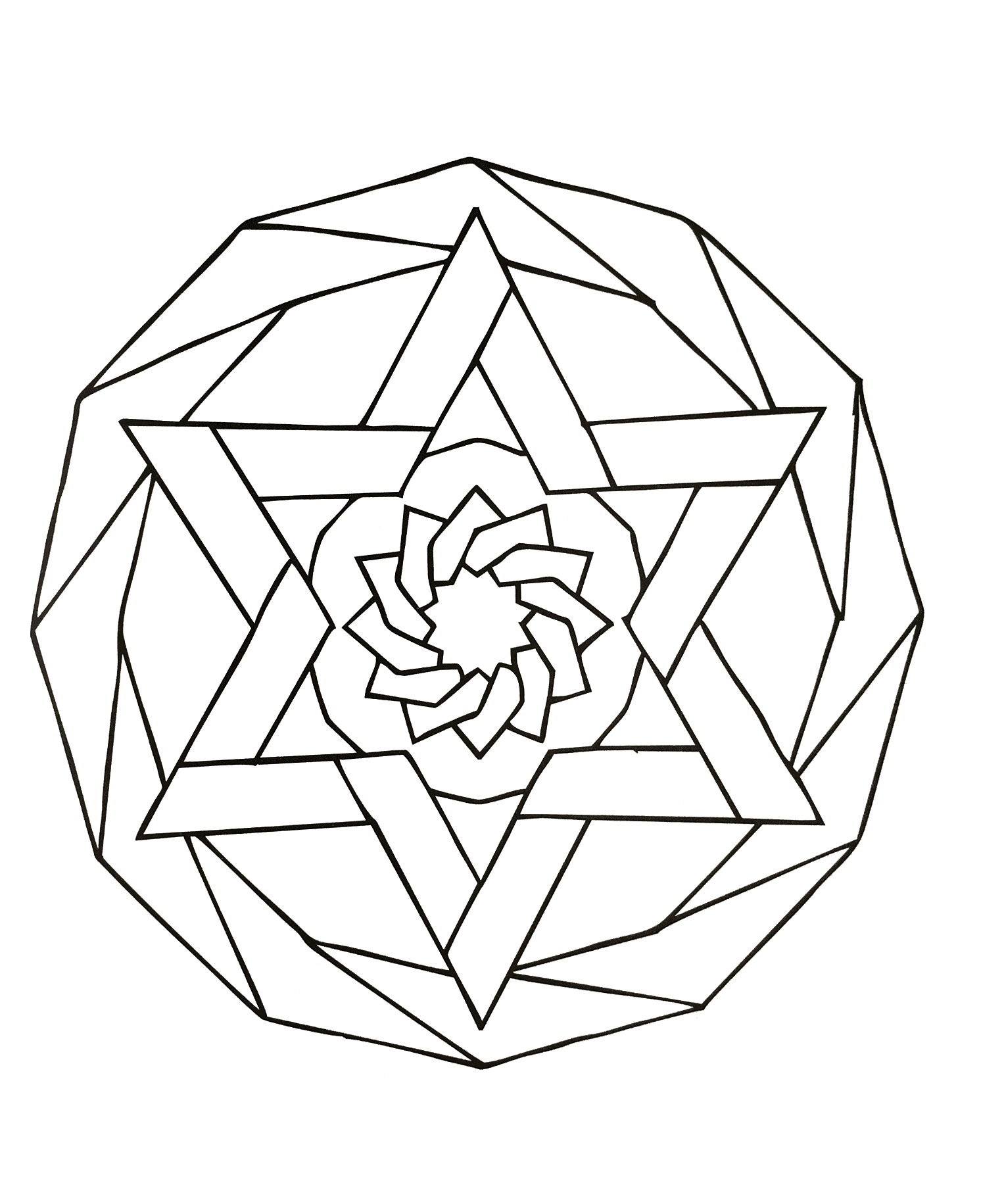 Simple mandala 88 - Mandalas Coloring pages for kids to ...