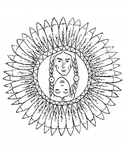coloring page simple mandala 16