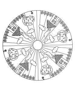 coloring page simple mandala 17
