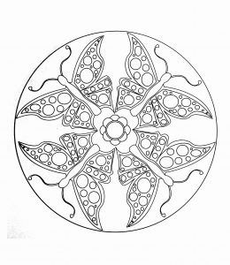 coloring page simple mandala 18