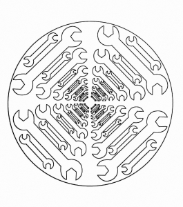 coloring page simple mandala 21 free to print