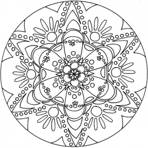 coloring page simple mandala 29 free to print