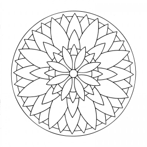 coloring page simple mandala 3