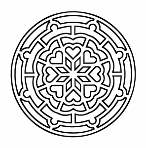 coloring page simple mandala 4 free to print