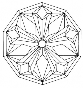 coloring page simple mandala 5